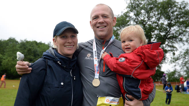 Mike and Zara Tindall with daughter Mia