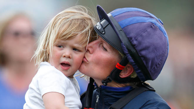 Zara Tindall with daughter Mia