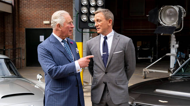 Prince Charles with Daniel Craig on the set of Bond 25