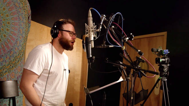 Seth Rogan recording the new version of 'Hakuna Matata'