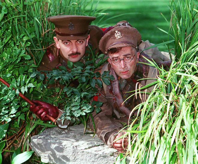 Rowan Atkinson and Sir Tony Robinson in Blackadder