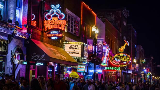 Lower Broadway in Nashville
