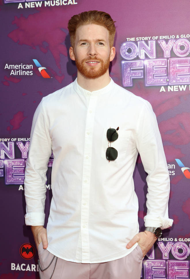 Neil Jones on the red carpet for Gloria Estefan's On Your Feet