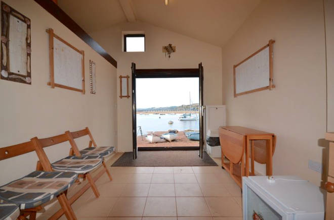 The £200,000 beach hut includes stunning views