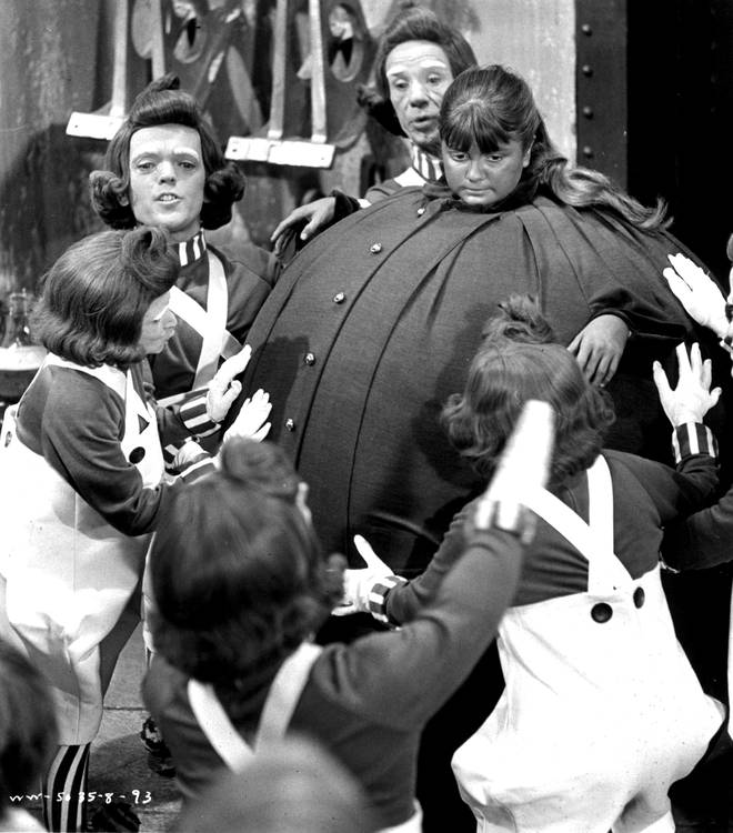 Denise Nickerson filming Violet Beauregarde's iconic Willy Wonka & The Chocolate Factory scene