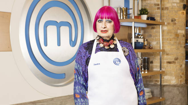 Zandra Rhodes on Celebrity MasterChef 2019
