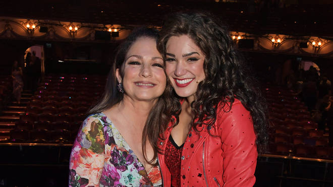 Christie Prades with Gloria Estefan