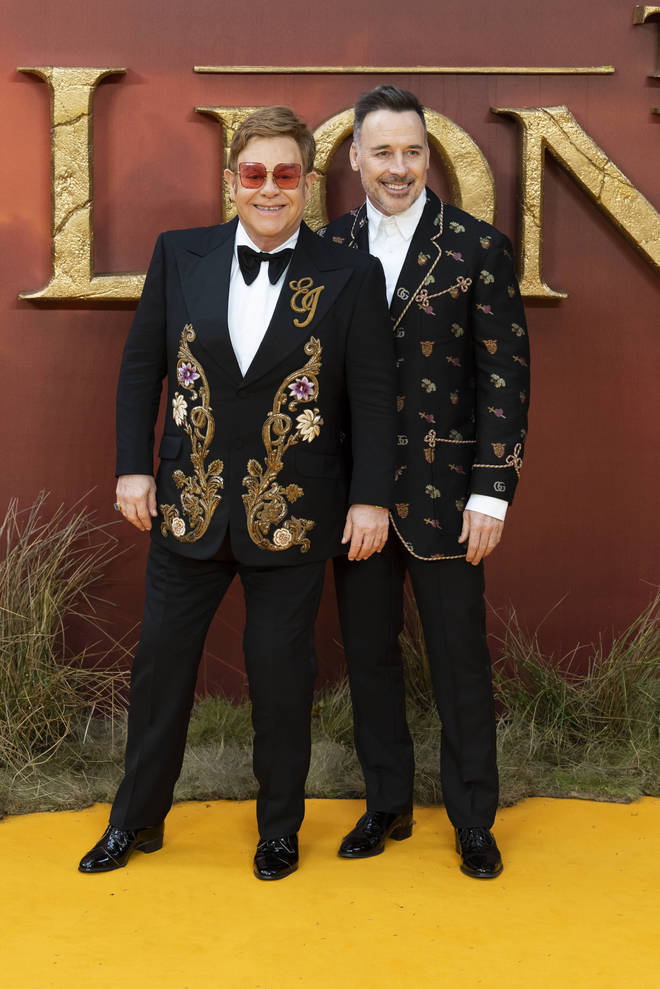 The Lion King 2019: Elton John and David Furnish