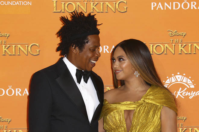 Jay Z and Beyoncé attending The Lion King 2019 premiere