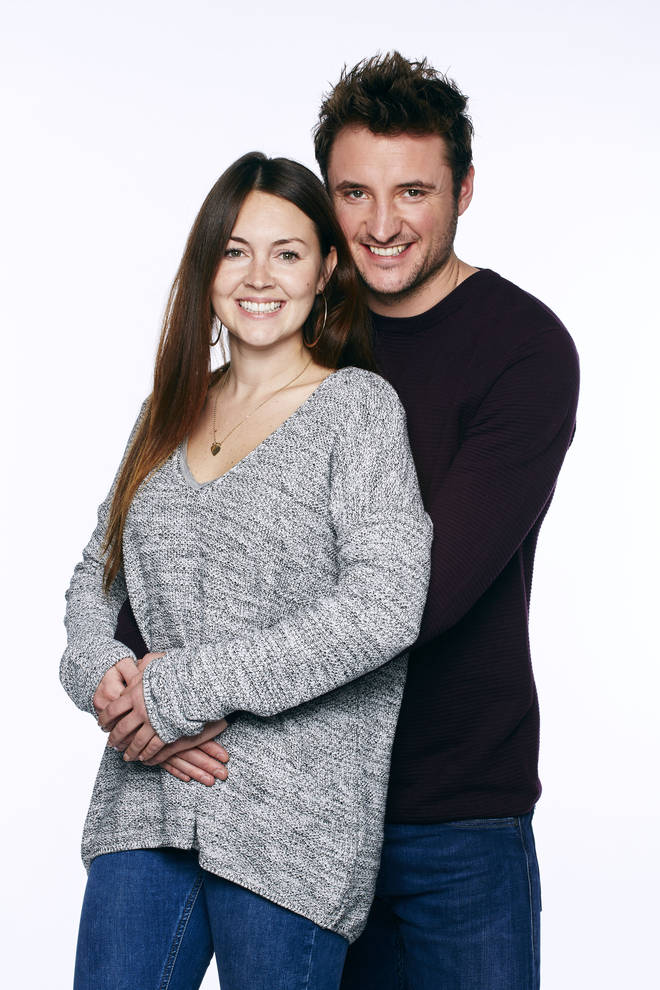 Stacey Folwer and James Bye as Stacey and Martin Folwer on EastEnders