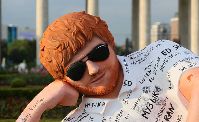 A giant Ed Sheeran statue has popped up in Moscow