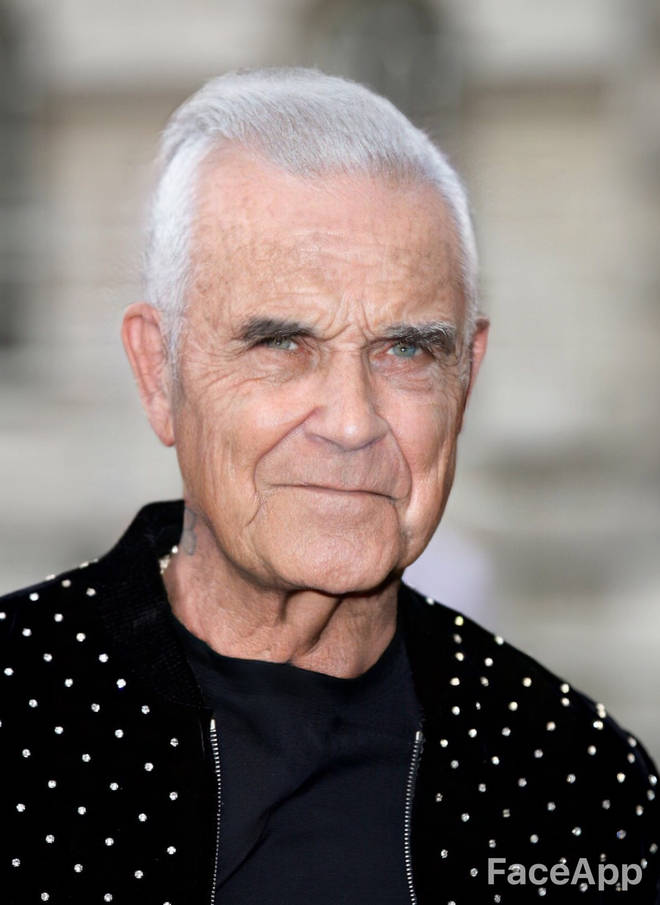 Robbie Williams FaceApp