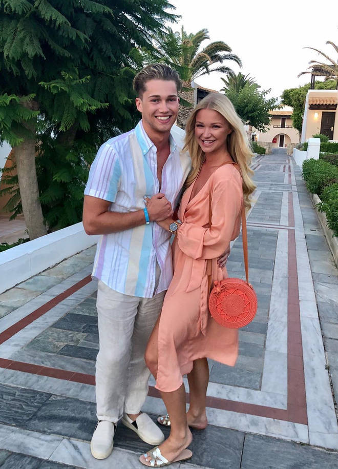 AJ and Abbie shared a sweet snap from their holiday to Crete earlier this month