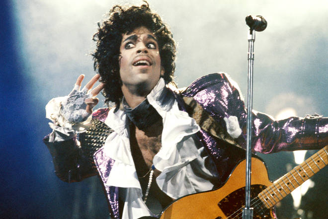 Prince in 1985 just months before recording 'Holly Rock'