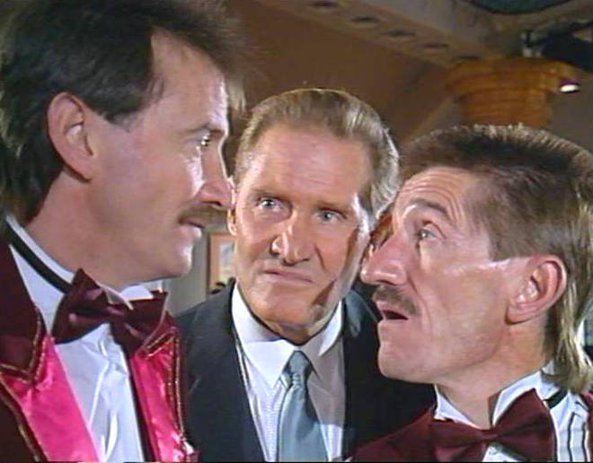 Jimmy Patton with Paul and Barry during his first appearance in ChuckleVision