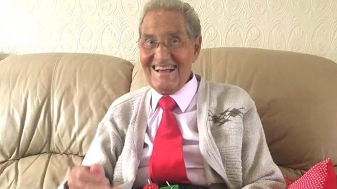 Jimmy Patton celebrating his 87th birthday