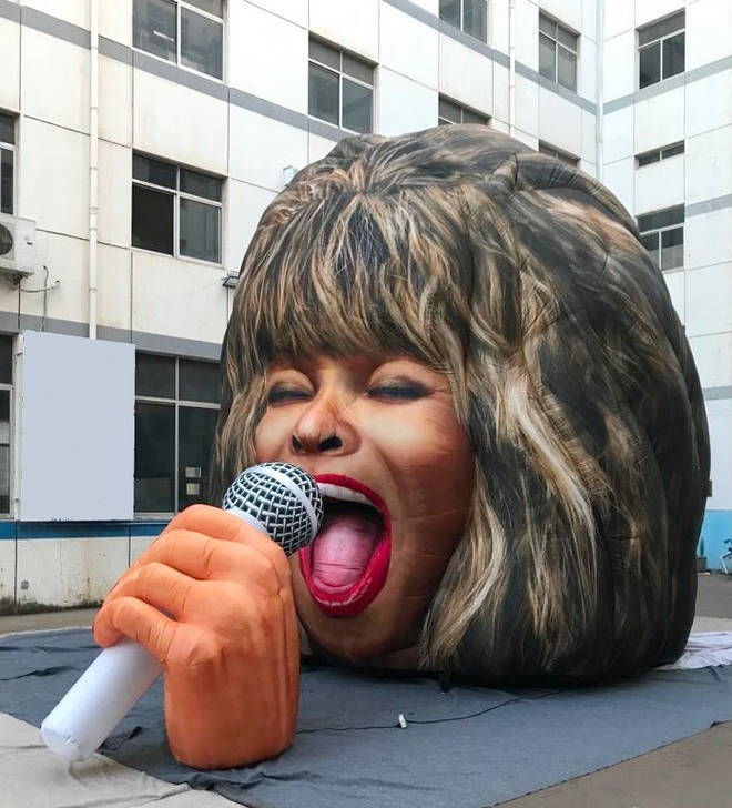 Tina Turner's head turned into giant statue at Dreamland Margate