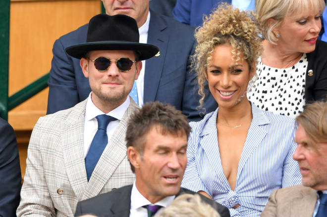Dennis Jauch with wife Leona Lewis at Wimbledon