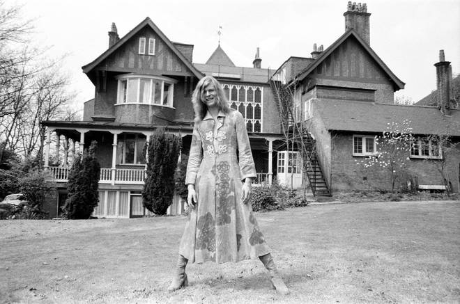 David Bowie at his home, Haddon Hall in Beckenham, Kent, 20th April 1971