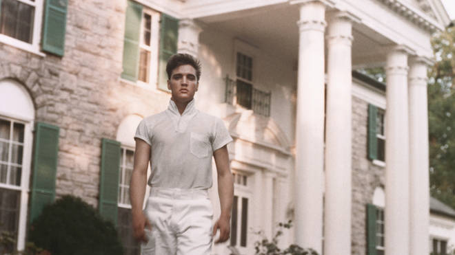 Elvis Presley at Graceland in 1957