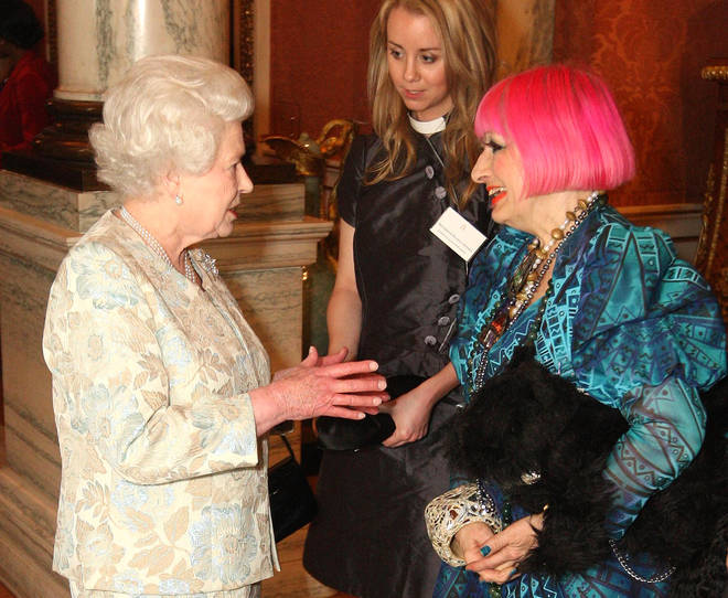 The Queen with Zandra Rhodes