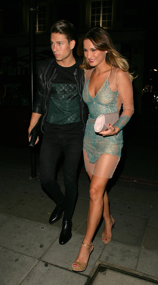 Joey Essex with ex Sam Faiers in 2014