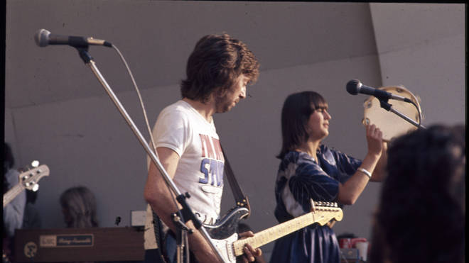 Eric Clapton performing with Marcy Levy (later Marcella Detroit)