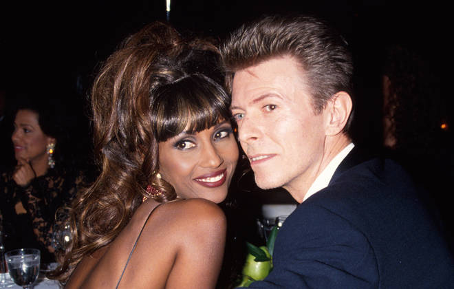 David Bowie and Iman pictured in 1992, two years after they first met
