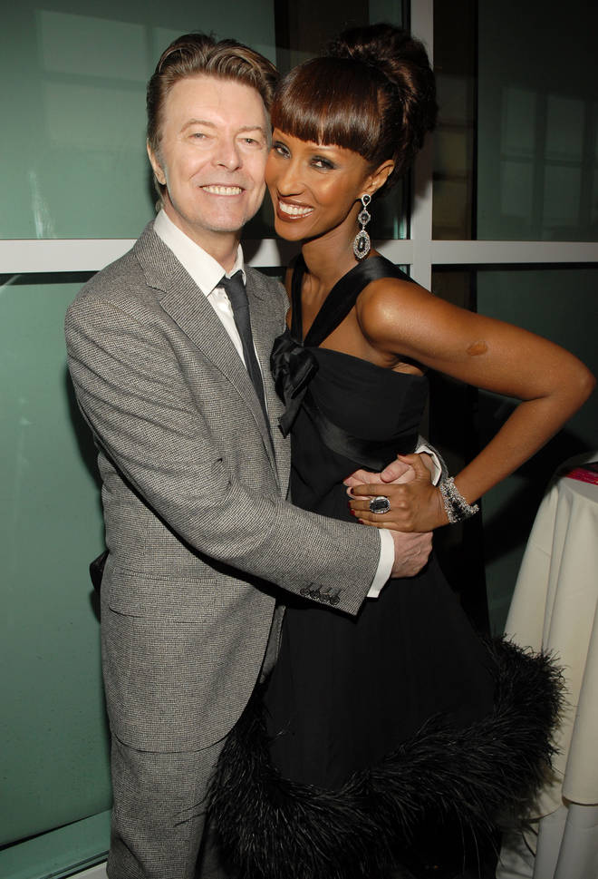 Iman and David Bowie pictures in 2007 at the Food Bank of New York Can-Do Awards Dinner Honoring The Edge and Jimmy Fallon