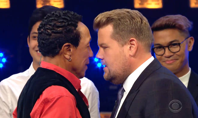 Smokey Robinson and James Corden had a 'heated' clash as part of the TV sketch