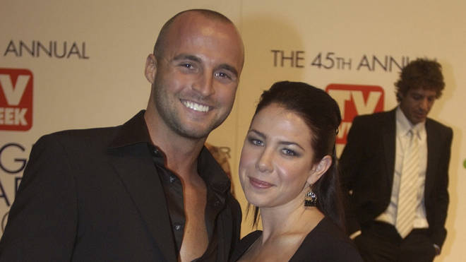 Ben Unwin with fellow soap star Kate Ritchie in 2003