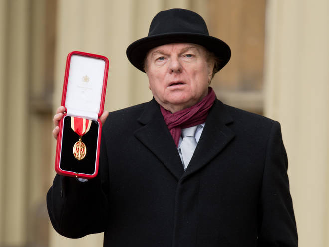 Sir Van Morrison was knighted by the Prince of Wales in 2016