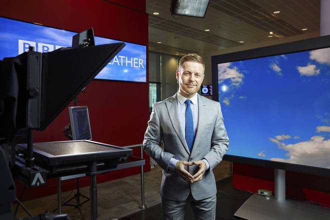 Weather presenter Tomasz Schafernaker