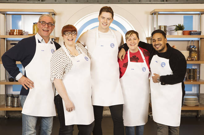 Celebrity MasterChef 2019: Josie Long (second right) with her fellow contestants