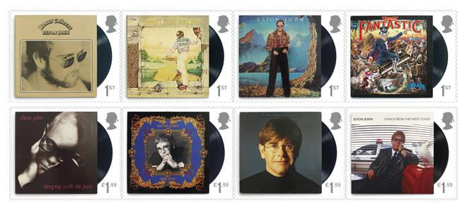 Elton John's Royal Mail stamp collection