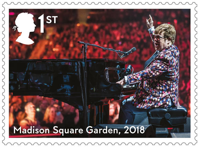 Elton John's Madison Square Garden stamp