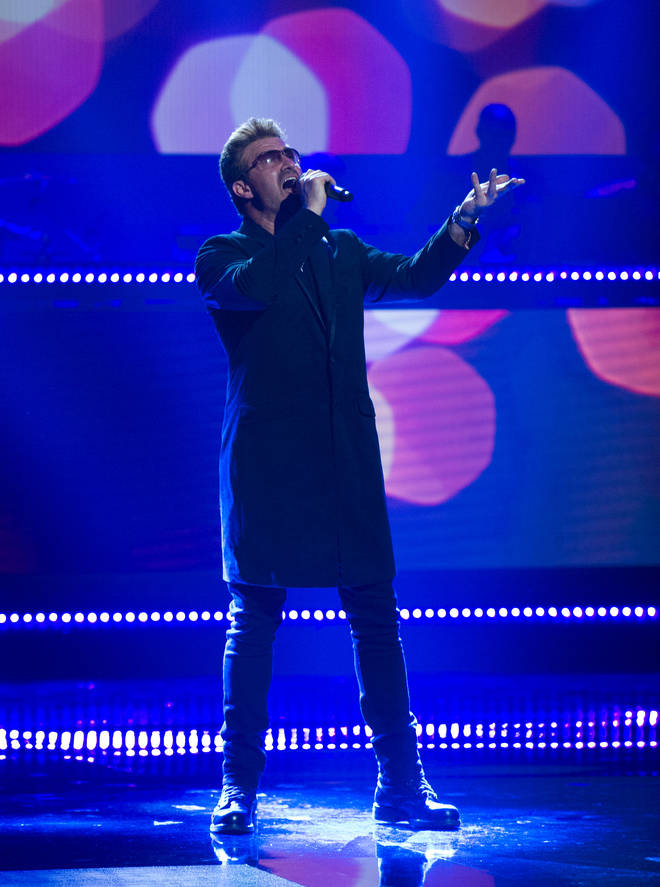 Rob Lamberti perfoming as George Michael on TV show Showtime at the Apollo in 2017