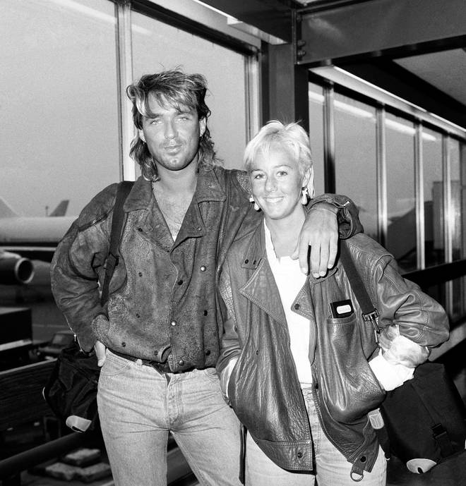Martin and Shirlie Kemp at Heathrow Airport after flying in from New York in 1985
