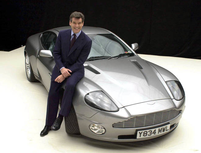 James Bond actor Pierce Brosnan in 2002