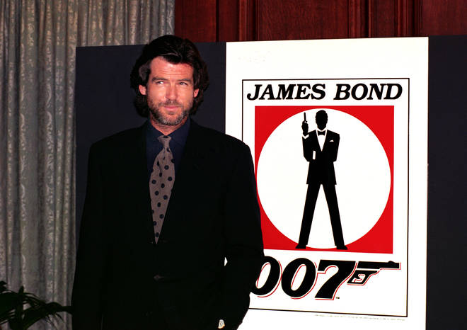 Pierce Brosnan in 1994 after he was named as the new James Bond
