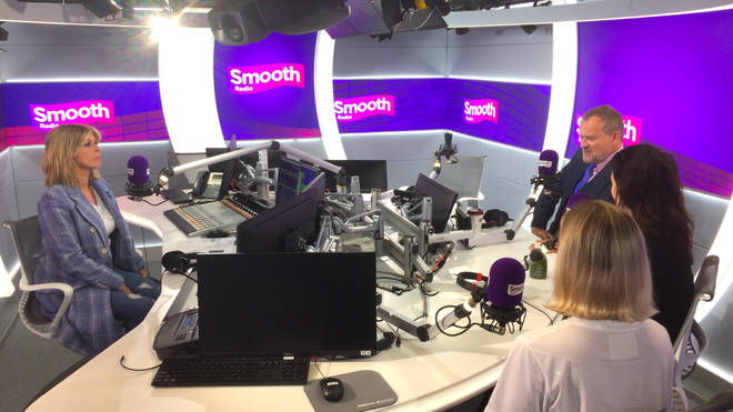The cast of Downton Abbey joined Kate Garraway in the Smooth Radio studio