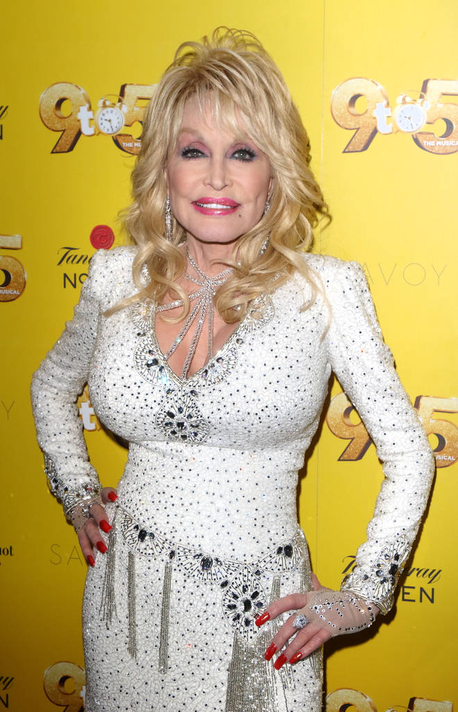 Dolly Parton at the London premiere of 9 to 5 The Musical