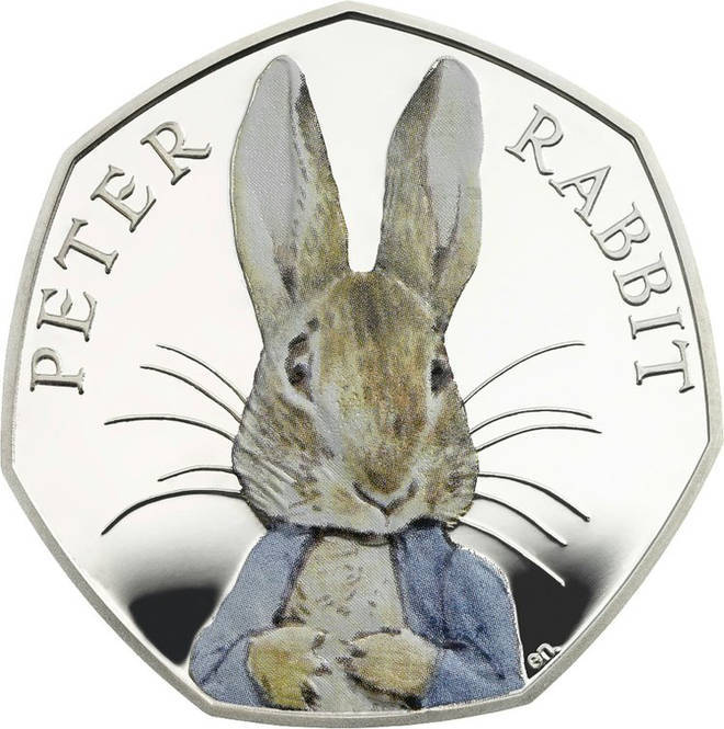 The rare Peter Rabbit 50 pence piece