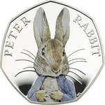 Rare Peter Rabbit 50 pence piece