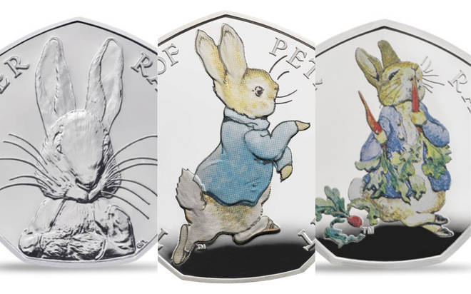The Peter Rabbit 50 pence piece coin collection