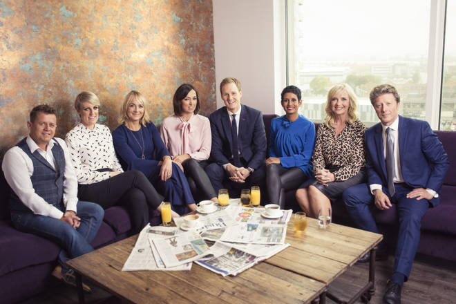 Mike Bushell (far left) with his fellow BBC Breakfast presenters