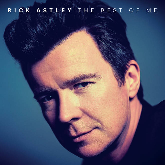 Rick Astley's new compilation album cover