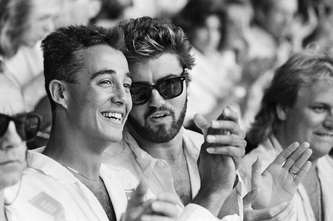 George Michael and Andrew Ridgeley pictured the same year they met the Queen at Live Aid in 1985