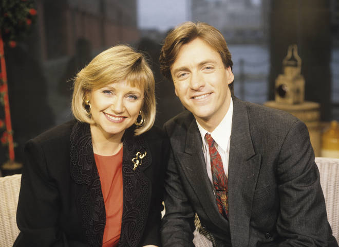 Judy Finnigan and Richard Madeley pictured hosting This Morning in 1990