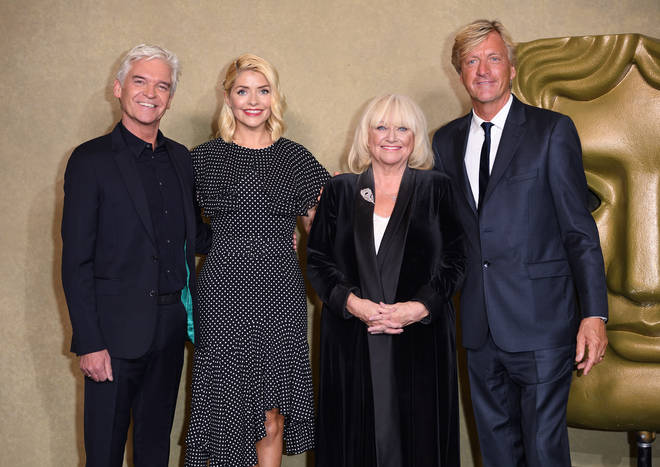 "Phillip Schofield, Holly Willoughby, Richard Madeley and Judy Finnigan attend a BAFTA tribute evening to long running TV show ""This Morning"" at BAFTA on October 1, 2018 in London"